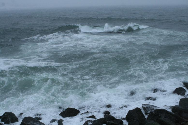 The raging ocean at Bear's Neck, Rockport, Massachusetts, during a NorEaster.  Jan 5, 2010, Copyright 2010